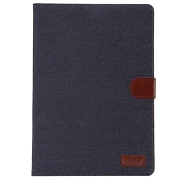 Samsung Galaxy Tab A 9.7 Jeans Smart Wallet Hoesje Donkerblauw