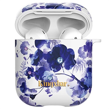 Kingxbar Swarovski AirPods-AirPods 2 Cover Orchidee