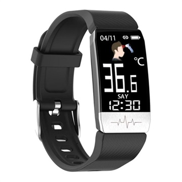 Ksix Fitness Band Activity Tracker met Thermometer & HR Zwart