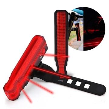 Laser Fiets Achterlicht & Laserpointer IPX5 Rood