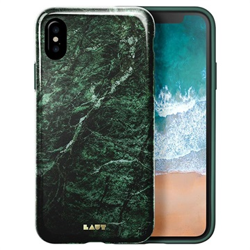 Laut Huex Marble Apple iPhone X Back Cover Groen