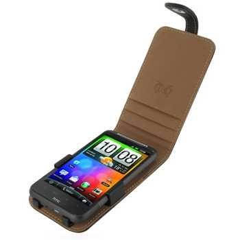 HTC Desire HD Flip Leren Tas