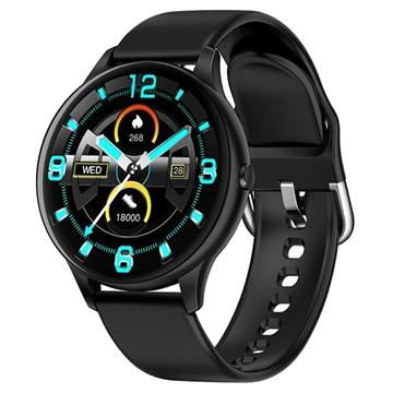 Lemonda Smart K21 Waterdichte Smartwatch met Hartslagmeter Zwart