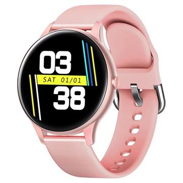Lemonda Smart K21 Waterdichte Smartwatch met Hartslagmeter Roze