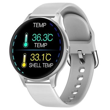 Lemonda Smart K21 Waterdichte Smartwatch met Hartslagmeter Zilver