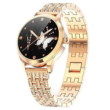 Luxe Vrouwelijk Slim Horloge met Hartslagmeter LW07 Goud