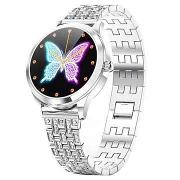 Luxe Vrouwelijk Slim Horloge met Hartslagmeter LW07 Zilver