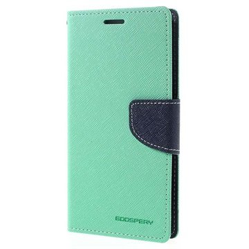 Samsung Galaxy J5 (2016) Mercury Goospery Fancy Diary Wallet Case Cyan / Donkerblauw