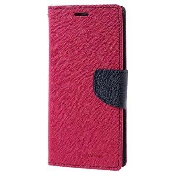 Samsung Galaxy J5 (2016) Mercury Goospery Fancy Diary Wallet Case Hot Pink / Donkerblauw