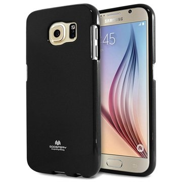 Samsung Galaxy S6 Mercury Goospery Jelly TPU Case Zwart