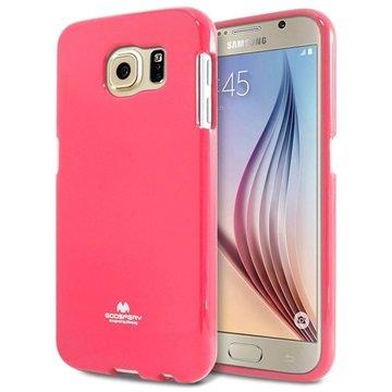 Samsung Galaxy S6 Mercury Goospery Jelly TPU Case Hot Pink