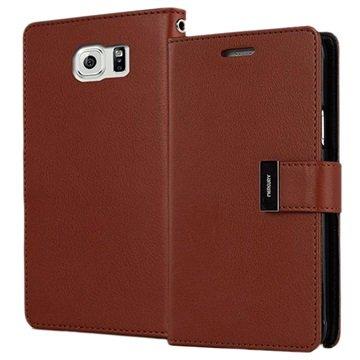 Samsung Galaxy S6 Mercury Goospery Rich Diary Wallet Case Bruin