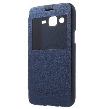 Samsung Galaxy J5 Mercury Goospery Wow Bumper View Flip Case Blauw