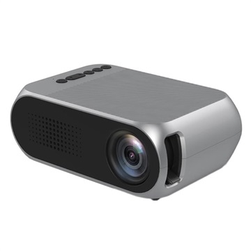 Mini Full HD 1080p LED Projector YG320 Zilver