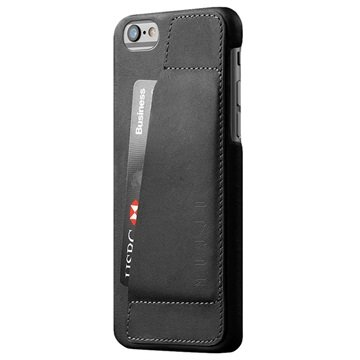 Mujjo Leather 80� Black iPhone 6-6S