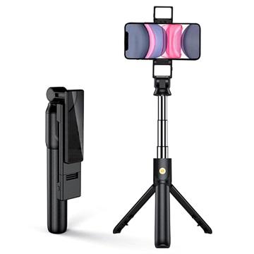 Multifunctionele Selfie Stick & Tripod Stand K22-D Zwart