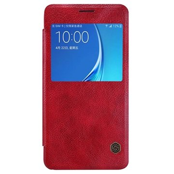 Samsung Galaxy J5 (2016) Nillkin Qin Smart Flip Case Rood