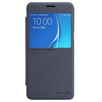 Samsung Galaxy J5 (2016) Nillkin Sparkle Series View Flip Case Zwart