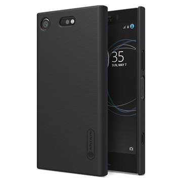 Sony Xperia XZ1 Compact Nillkin Super Frosted Shield Cover Zwart