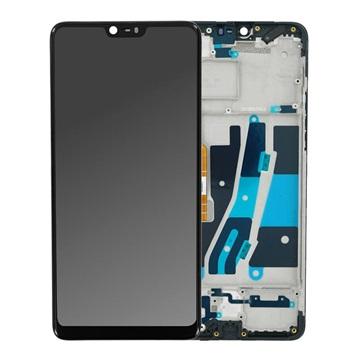 Oppo A3 Voorzijde Cover & LCD Display - Zwart