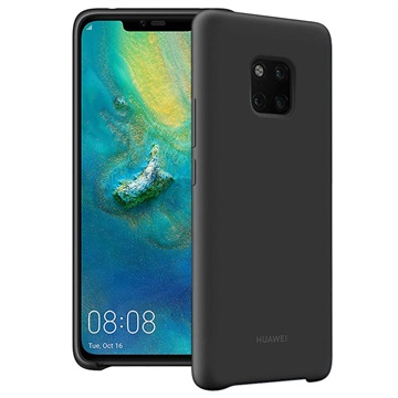 Huawei Mate 20 Pro Silicon Case Zwart voor Mate 20 Pro