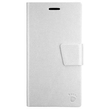 iPhone 6 Plus PT Line Book Style Wallet Leren Hoesje Wit