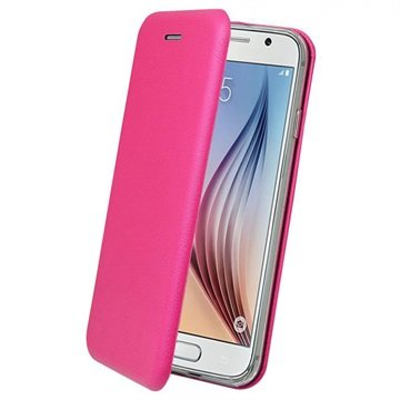 Samsung Galaxy S6 PT Line Full Coverage Wallet Case Hot Pink