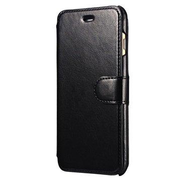 iPhone 6 Plus/6S Plus PT Line Slim Wallet Hoesje Zwart