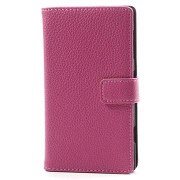 Nokia Lumia 1020 Wallet Leren Hoesje Hot Pink