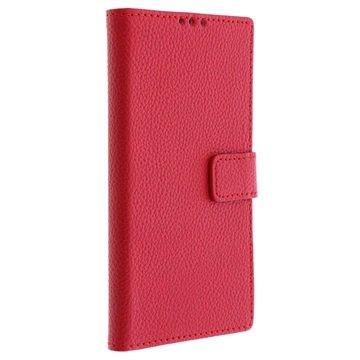 Nokia Lumia 1020 Wallet Leren Hoesje Rood