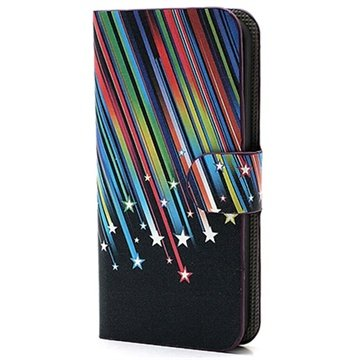 iPhone 5-5S-SE Wallet Leren Hoesje Meteor