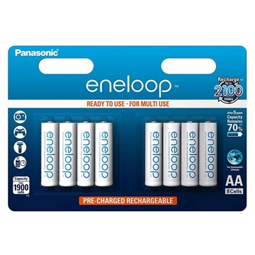 Panasonic Eneloop Oplaadbare AAA Batterijen BK-4MCCE/8BE - 750mAh - 1x8