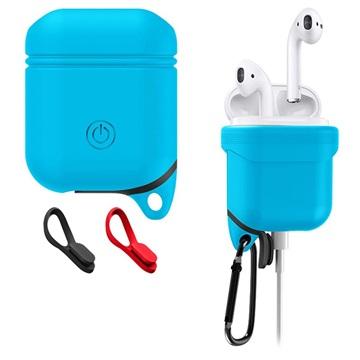 Apple AirPods Premium Waterbestendig Siliconen Hoesje Blauw