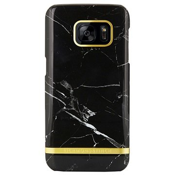 Richmond & Finch Marble Glossy Samsung Galaxy S7 Edge Zwart