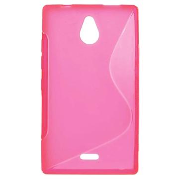 Nokia X2 Dual Sim Scurve Tpu Case Hot Pink kopen