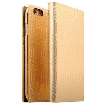 iPhone 6 Plus/6S Plus SLG Design D4 Metal Hologram Flip Case Goud