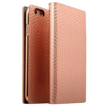 iPhone 6 Plus/6S Plus SLG Design D4 Metal Hologram Flip Case Rose Gold