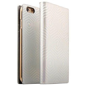 iPhone 6 Plus/6S Plus SLG Design D4 Metal Hologram Flip Case Zilver