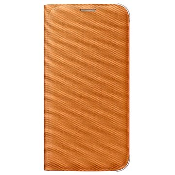 Samsung Galaxy S6 Stoffen Flip Wallet EF-WG920BO Oranje
