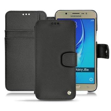 Samsung Galaxy J5 (2016) Noreve Tradition B Wallet Leren Hoesje - Perpétuelle Zwart
