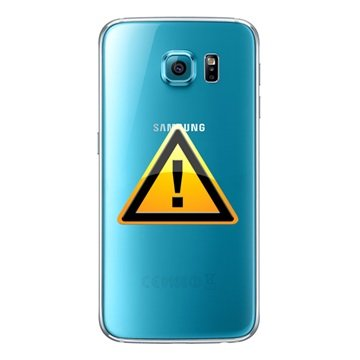 Samsung Galaxy S6 Batterij Cover Reparatie Blauw