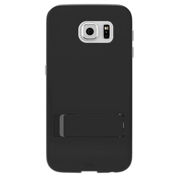 Samsung Galaxy S6 Case-Mate Tough Staander Tas Zwart / Titanium
