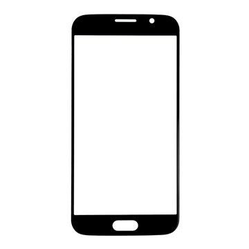 Samsung Galaxy S6 Displayglas Zwart