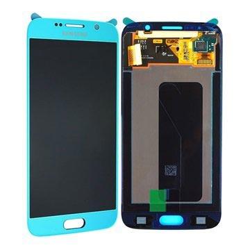 Samsung Galaxy S6 LCD Display GH97-17260D Blauw