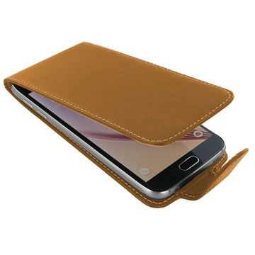 Samsung Galaxy S6 PDair Leren Case NP3TSSS6FX1 Bruin