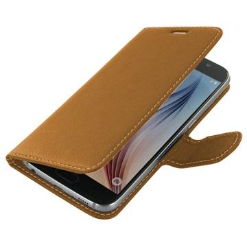 Samsung Galaxy S6 PDair Leren Case NP3TSSS6BX1 Bruin
