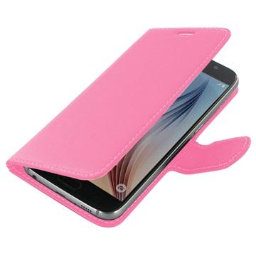 Samsung Galaxy S6 PDair Leren Case NP3JSSS6BX1 Roze