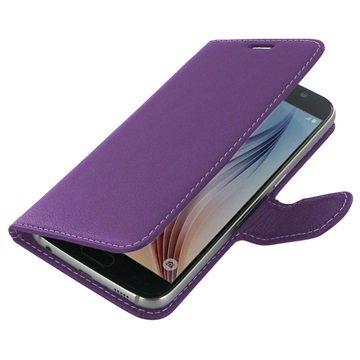Samsung Galaxy S6 PDair Leren Case NP3LSSS6BX1 Paars
