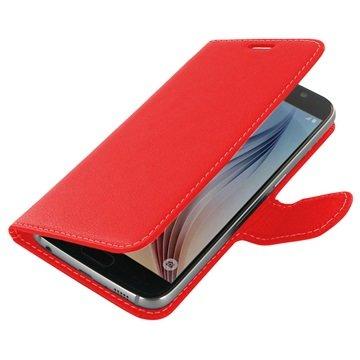 Samsung Galaxy S6 PDair Leren Case NP3RSSS6BX1 Rood