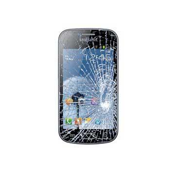 Samsung Galaxy Trend S7560 Displayglas Reparatie Zwart